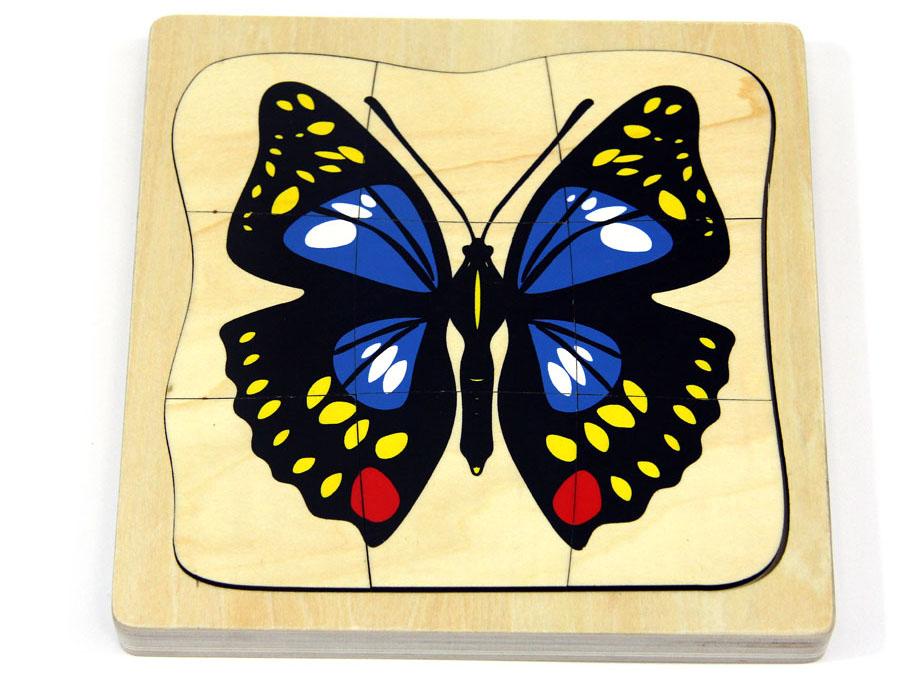 Le casse-tête des papillons Montessori